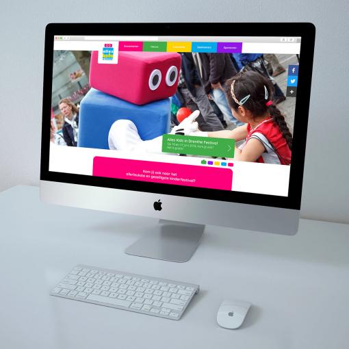 Website voor Alles Kids in Drenthe