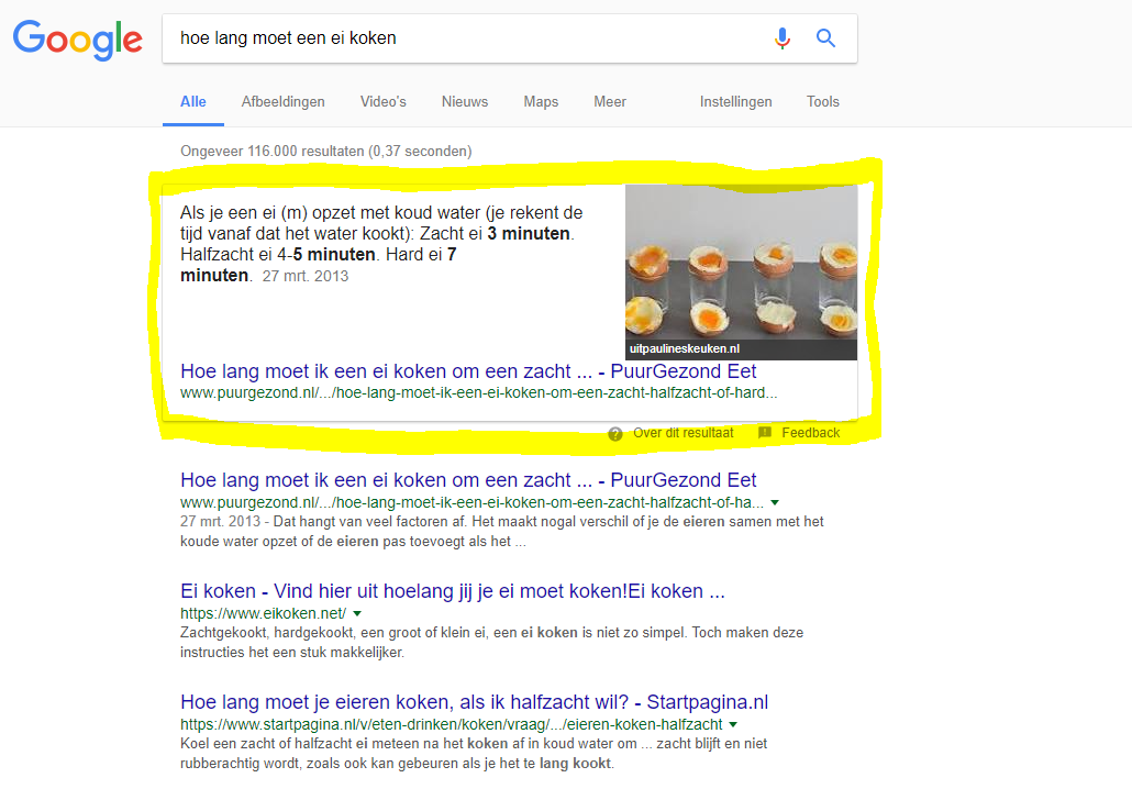 Wat zijn Featured Snippets?