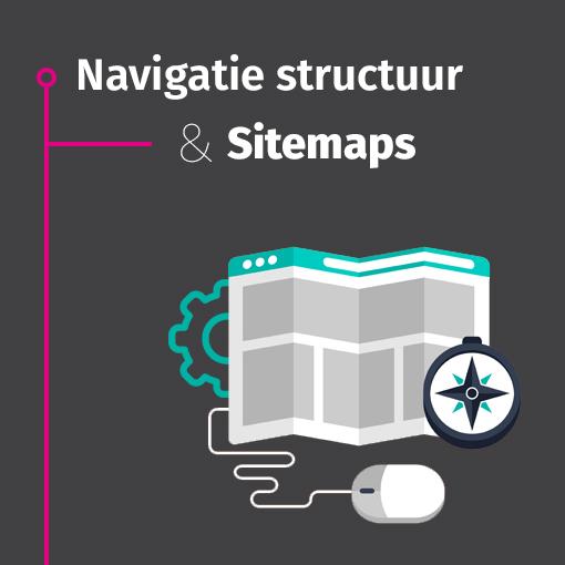 Navigatie structuur & Sitemaps