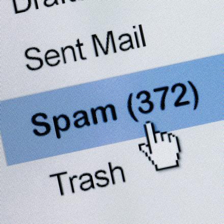 Spam e-mails in omloop