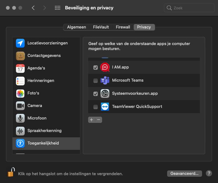 mac security en privacy